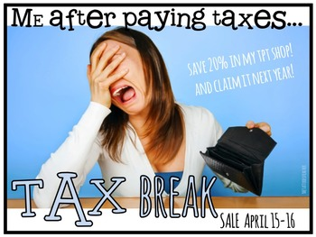 Let's have a tax day sale button!