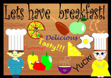 Let's have breakfast! 26 clipart graphics in PNG format