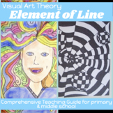 THE ELEMENT OF LINE in ART Comprehensive Visual Art Lesson plan