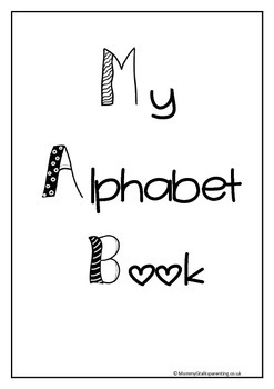 Lets learn the alphabet- cute alphabet workbook for prek