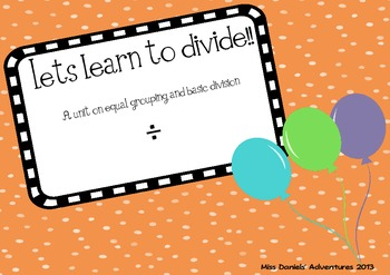 Let's learn to divide!