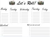 Lets roll weekly organizer