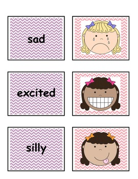 Feelings Match Game - Let's talk about Emotions (for girls)