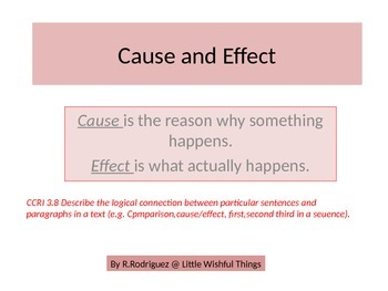 Let's understand Cause & Effect