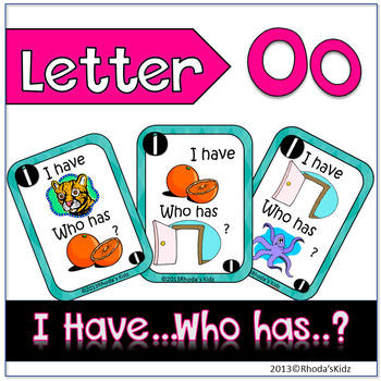 """Letter 0  """"I have... Who has?"""""""
