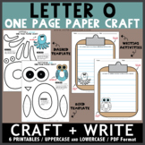 Letter O One Page Paper Crafts - Owl and Octopus