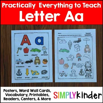Letter A | Alphabet Printables and Centers