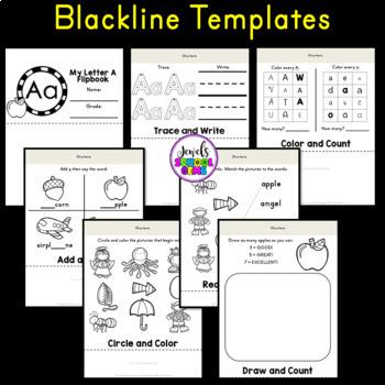 Letter A Alphabet Flip Book (Alphabet Interactive Notebook Activities FREE)