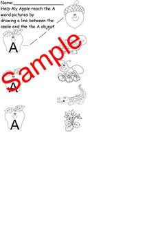 Letter A 5 day worksheet packet