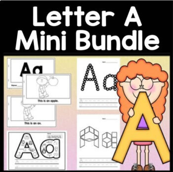 Letter A Activities {Letter A Book and 5 Letter A Worksheets!}