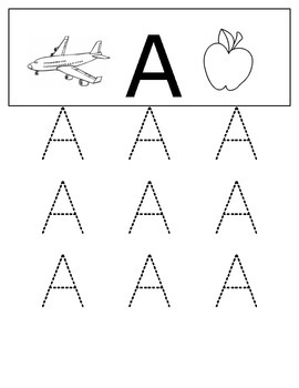 Letter A - Activities (FREEBIE)