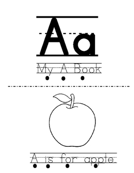 Letter A Activity Bundle - 2 Books with 5 Corresponding Worksheets