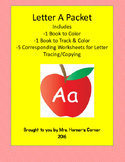Letter A Activity Bundle - 2 Books with 5 Corresponding Wo