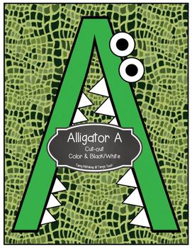 Letter A Alligator Cut-out