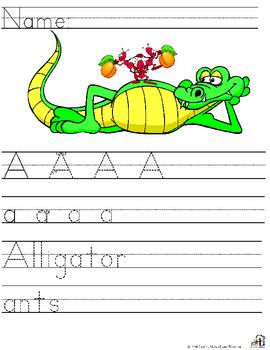 Letter A Alliteration Set