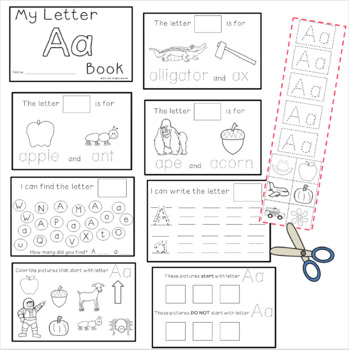 Letter A: Alphabet Activity Book FREEBIE!