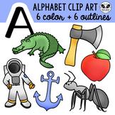 Letter A Clip Art Alphabet / Beginning Sounds Freebie