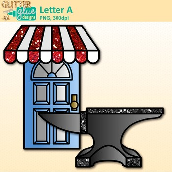 Letter A Alphabet Clip Art {Teach Phonics, Recognition, and Identification}