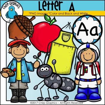 Letter A Alphabet Clip Art Set - Chirp Graphics