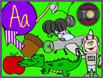 Letter A - Alphabet Clipart {TeacherToTeacher Clipart}