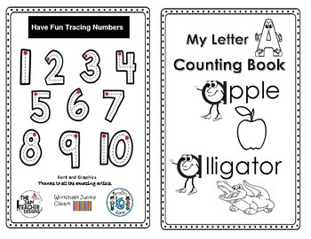 Letter 'A' Alphabet Counting Book