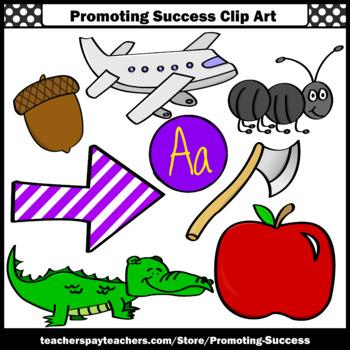 Letter A Clipart, Alphabet Pictures Clip Art, Beginning Sounds SPS