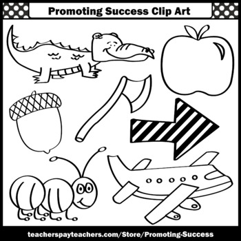 Letter A Clipart Alphabet Pictures Clip Art Beginning Sounds Sps