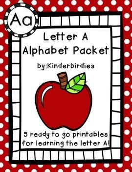 Letter A Alphabet Packet
