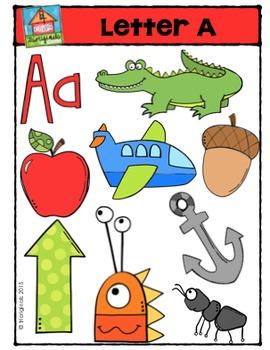 Letter A - Alphabet Pictures {P4 Clips Trioriginals Digital Clip Art}