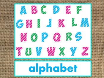 Letter A Alphabet PowerPoint FREEBIE! Fun/Colorful Words w/Pictures (Expandable)