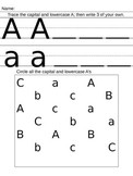 Letter A Assessment