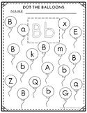 Letter Bb Balloon Dot-It Sheet FREEBIE