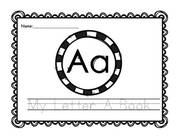 Letter A Book: Handwriting Practice