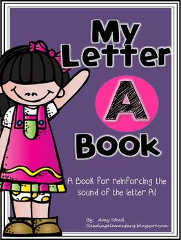 Letter A Book of Beginning Sounds-Emergent Reader w/Running Record-CCSS Aligned