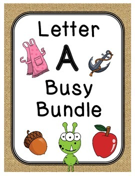 Letter A Busy Bundle