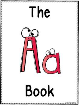 Letter A Class Book FREEBIE