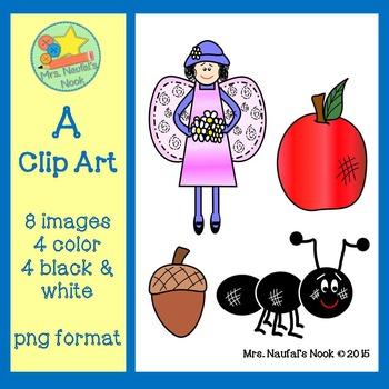 Letter A Alphabet Clip Art