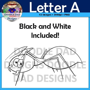 Letter A Clip Art (Ant, Ambulance, Arrow, Ax, Arm, Astronaut)