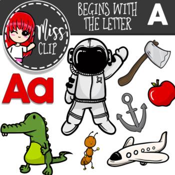 Letter A Clip Art Bundle {Miss Clip} Alphabet Commercial Use
