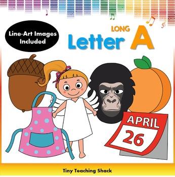 Letter A Clip Art (Long A)