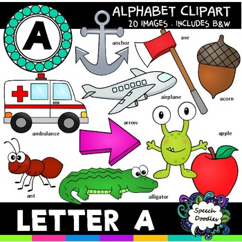 Letter A Clipart - 20 images! For Commercial and Personal Use!