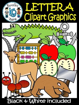 Letter A- Clipart Graphics- Commercial & Personal Use