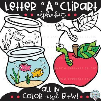 Letter A Clipart {alphabet clipart}