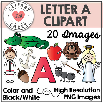 Letter A Alphabet Clipart by Clipart That Cares