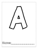 Letter A Color and Trace AlphaBook