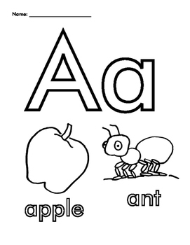 Letter A Coloring Sheets