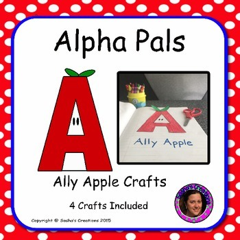 Letter A  Craft: Ally Apple Alpha Pal