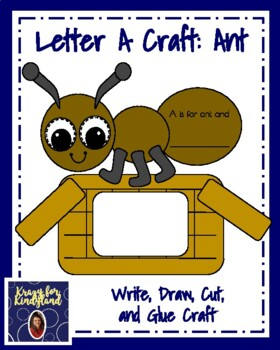 Letter A Craft: Ant