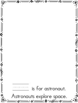 Letter A Craftivity Book