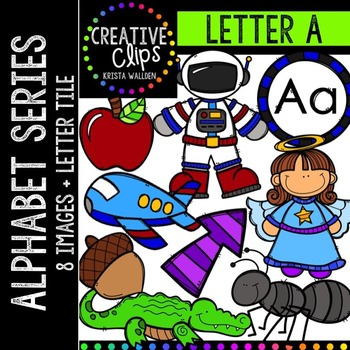 Letter A {Creative Clips Digital Clipart}